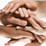 Hands Together During Huddle